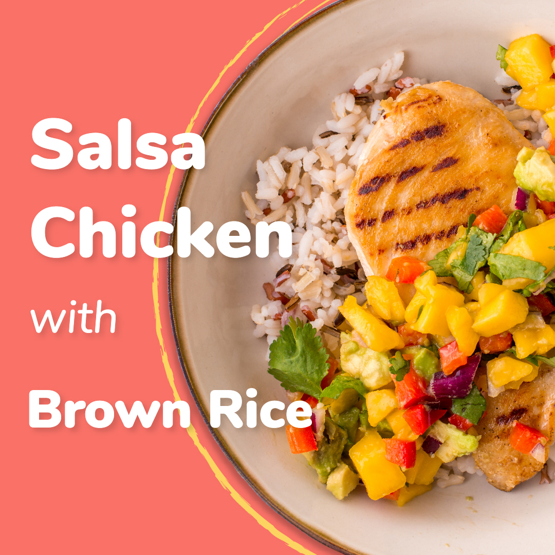 Salsa Chicken with Brown Rice