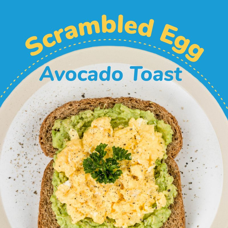 Scrambled Egg Avocado Toast